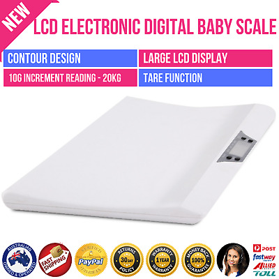 LCD Electronic Digital Baby Scale 20kg Weigh Measure Scales Pet Dog Cat Infant