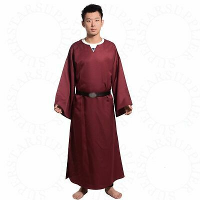 Medieval Renaissance Larp Wicca Pagan Ritual Robe With Belt Cosplay Costume