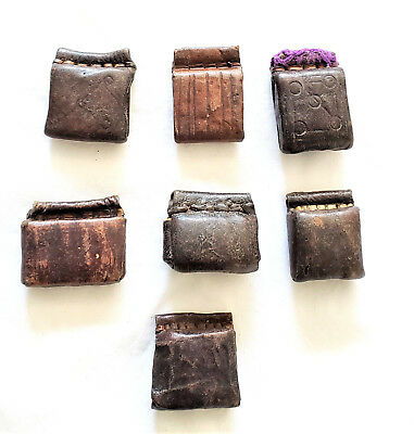 Old Ethiopian Leather Healing Scroll Protection Amulet
