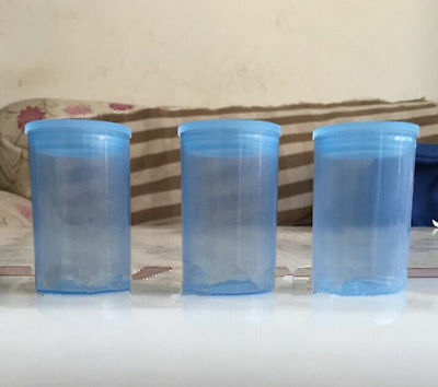 10PCS Empty blue bottle 35mm film cans canisters containers JH08