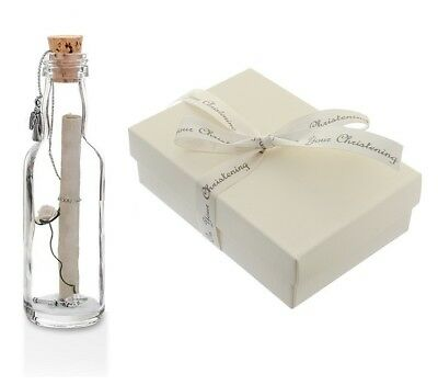 Christening Gifts for Boys Girls Personalised Message in a Bottle with Gift Box