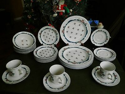 25 Pcs Used Tienshan Stoneware Chateau Dinner Bread Bowls Saucers Cups