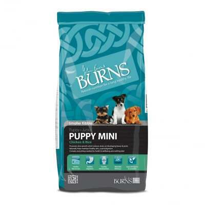 2 x 12kg burns puppy mini chicken and rice complete hypoallergenic food £34.75e