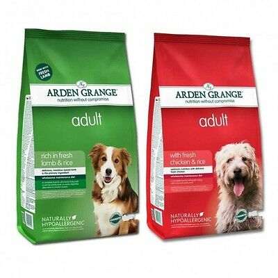 2 x 12kg  Arden Grange Chicken / lamb and Rice Adult Dog Food only £27.25 each!