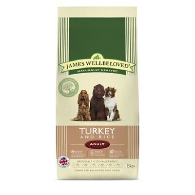 2 x 15kg james wellbeloved adult large breed fish duck turkey £37.75 each !