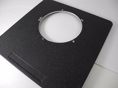 TOYO VIEW OR CALUMET 6X6 LENS BOARD DRILLED FOR 3 inch NICE CONDITION