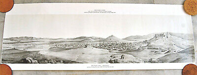 Athens 1835 Panoramic View of the city  ( Greek Parliament Print 1994)