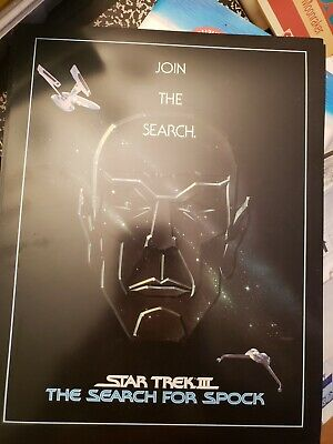 "STAR TREK III THE SEARCH FOR SPOCK 1984 2 side MOVIE POSTER Lobby Card 8 1/2""x11"