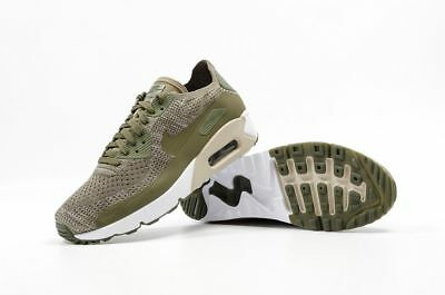 cf045234f6 Nike Men's Air Max 90 Ultra 2.0 Flyknit 875943-200 Medium Olive Shoes Brand  New