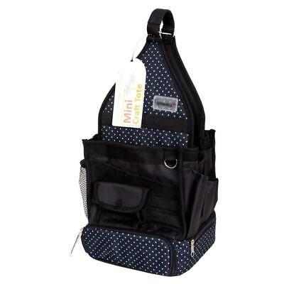 Papermania Mini Wheelable Tote Storage Canvas Bag With Safety Hook Liquorice Dot