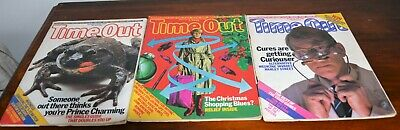 3 x Time Out Magazines November December 1982