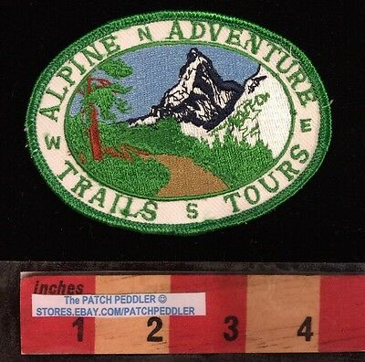 SOUVENIR PATCH ~ SWITZERLAND SWISS ALPS ALPINE ADVENTURE TRAILS TOURS 58RR ex