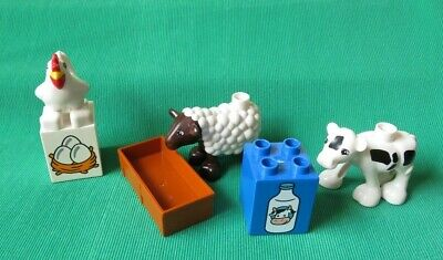 Compatible With NEW Lego DUPLO Animals Milk Cow Lot Happy Family Farm House SET