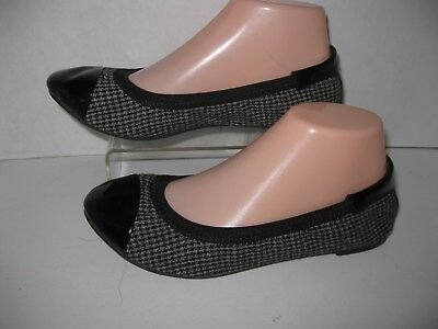 6b616245e695 Dexflex comfort womens size 6W black patent fabric stretch fit ballet flats