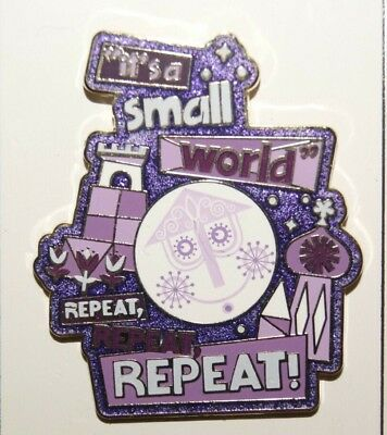 Disney It's A Small World Repeat Repeat Repeat! Pin  Purple
