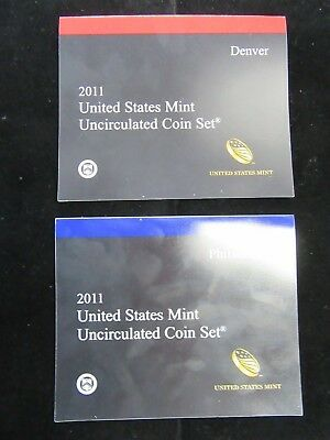 2011 US Mint Set Uncirculated Coin Set Philadelphia And Denver 28 Coins