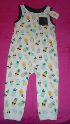 NEW Boys Size 6-12 Months Gymboree Summer Romper Pineapples Long Pant RP $34 NWT