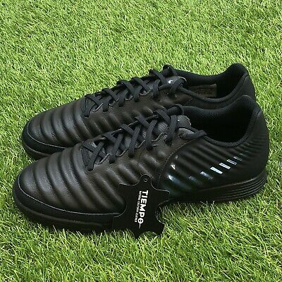 55a5a459354 New Nike Tiempo VII Academy IC Size 9 Leather Indoor Soccer Black AH7244-001