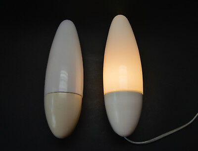 Pair of Mid Century 1960's wall sconces Modernism Hand Made Shades