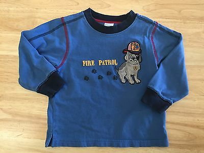 Baby Boy Gymboree Long Sleeve Shirt 2T With Fire Puppy Patrol Fire Department