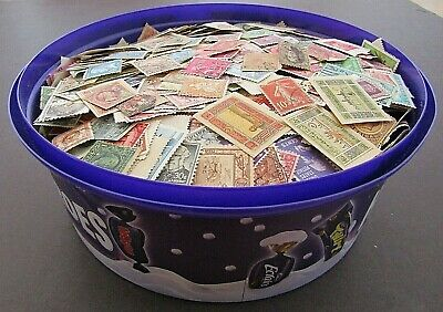 Huge Collection Of Stamps In  Sweet Tin - All World/all Periods - Est 12,000+