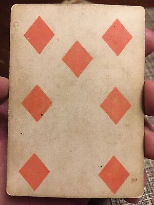 Original No Numbers ANTIQUE 1800s NO INDICES PLAYING CARD CIVIL WAR US Cards