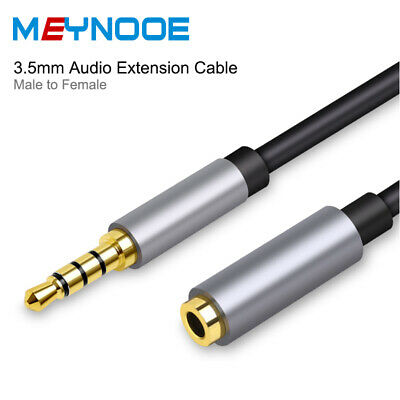 Stereo Headphone Aux Cord 3.5mm Audio Extension Cable 4-Pole Male to Female