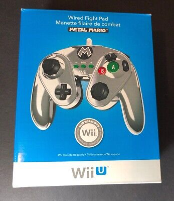 Super Smash Bros Wired Fight Pad [ Metal Mario Edition ] ( for Wii U & Wii ) NEW