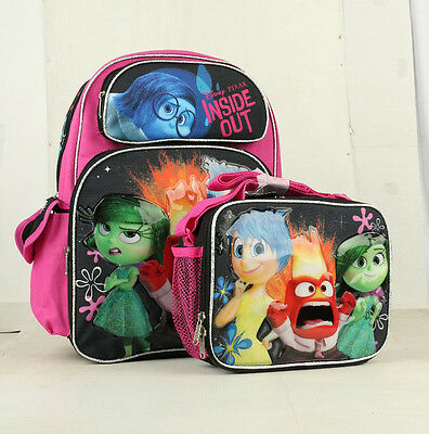5fdb8fd40ace HOT INSIDE OUT Disney Pixar Girl's 16' Large School Backpack with Lunch bag