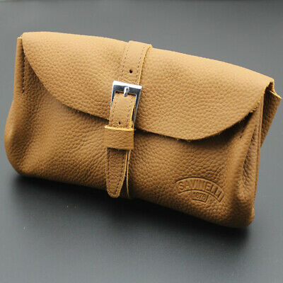 Savinelli Nature Real Leather Durable Portable TOBACCO Smoking Pipe Pouch Bag
