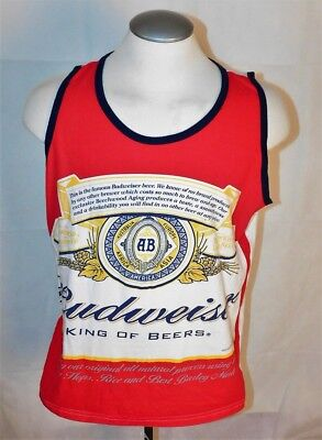 9824383f3d3fa3 BUDWEISER KING OF Beers Retro Label Licensed Men s Tank Top -  14.39 ...