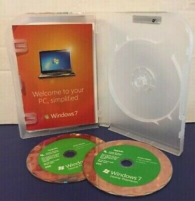 Microsoft Windows 7 Home Premium Upgrade 32 Bit and 64 Bit DVDs MS WIN With key