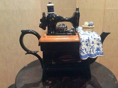 """Cardew design large infusion sewing machine teapot 12"""" in length 9 1/2"""" tall"""