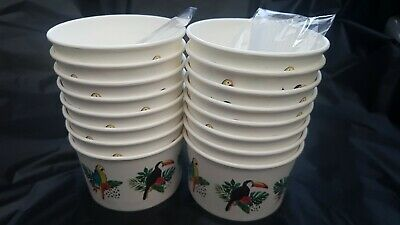 24x ICE CREAM TUBS CUPS with  SCOOPS Party Van Parlour
