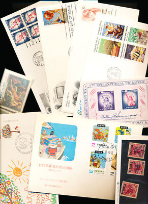 WORLDWIDE LOT OF STAMPS AND HIGH VALUE COVERS. MNH BLOCKS AND MORE n65