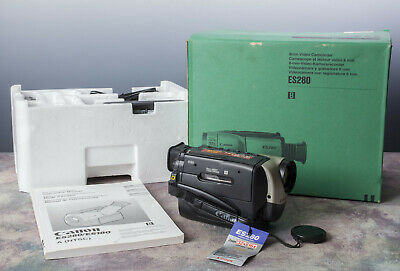 CANON ES280 8mm Video Camcorder NOS, complete kit in box