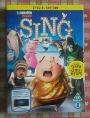 Sing DVD (2017 Universal Studios, Special Edition: includes 3 new mini movies)