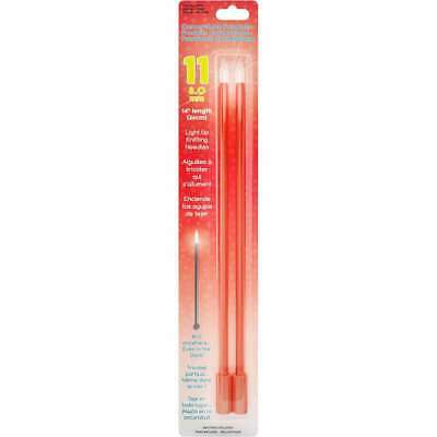 """The Knit Lite Light Up Knitting Needles by Clover 13/"""" Size 10 6mm Yellow WE88029"""