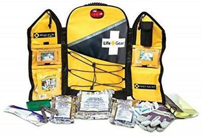 Emergency Survival Kit Yellow Backpack Life Gear 1 Person 3 Day Food Water More