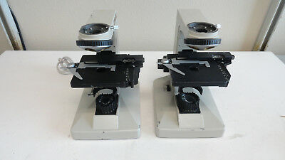 L2: Lot of 2 NIKON Alphaphot Microscope Base with Stage