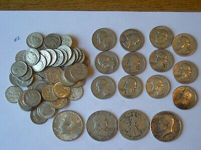 $10 Face Value 90% Silver U.S. Coin Lot - Half Dollars,Quarters and Dimes  Lot 2