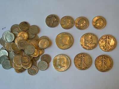 $10 Face Value 90% Silver U.S. Coin Lot - Half Dollars,Quarters and Dimes  Lot 4