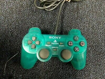 OEM Emerald Green PS2 Controller Sony Playstation 2 Dual Shock Official Tested