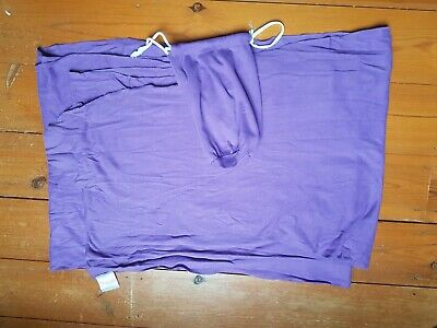 Baby sling stretchy wrap carrier in purple in good condition