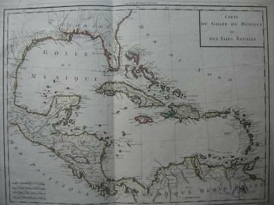 c1790 - MENTELLE & CHANLAIRE - Map GULF OF MEXICO & WEST INDIES