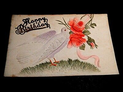 "1909. Embossed Card .Birthday Greetings .1909  .""L@@@K""."