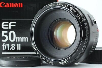 Canon EF 50mm F/1.8 II Lens - in original box from Japan