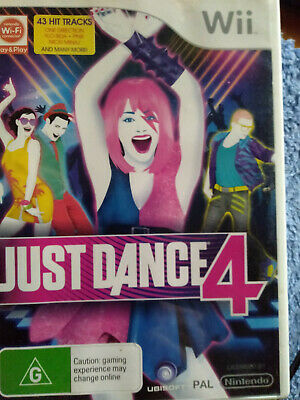 JUST DANCE 4 for Nintendo Wii - Pal - VGC