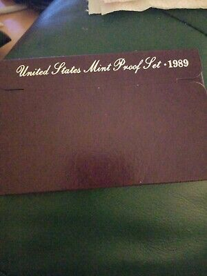 1989 Us Mint Proof Set - With Coa / Original Package  5 Coins!