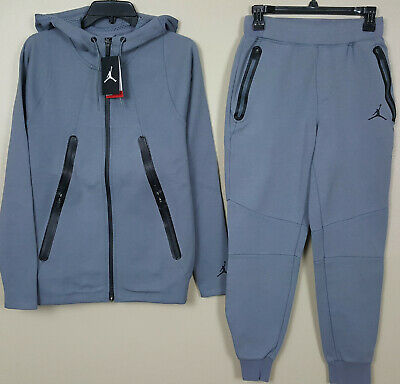 73923c77447754 Nike Jordan Lite Fleece Sweatsuit Hoodie + Pants Set Cool Grey Rare (Size  Small)